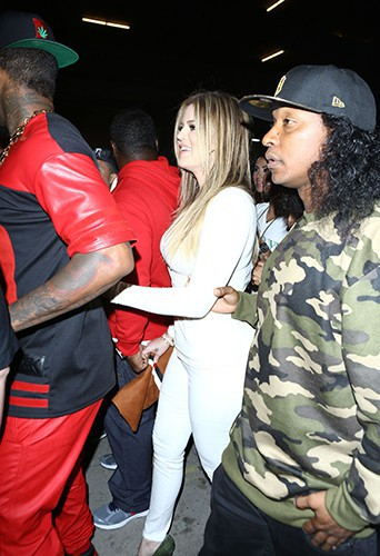 The Game et Khloé Kardashian à Los Angeles le 10 février 2014