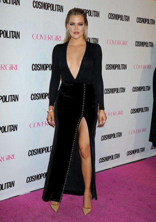 Khloé Kardashian à la soirée des 50 ans de Cosmopolitan, le 12 octobre 2015