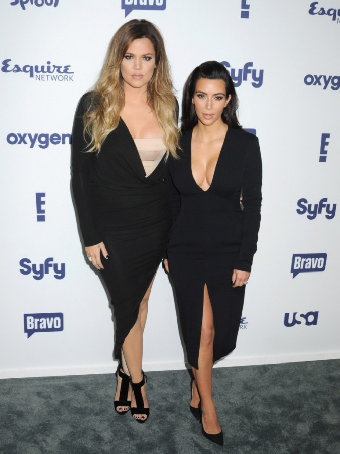 Khloe et Kim Kardashian en promo à New York, le 15 mai 2014.
