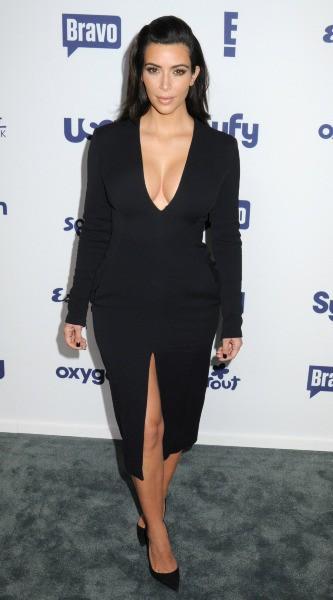 Kim Kardashian en promo à New York, le 15 mai 2014.