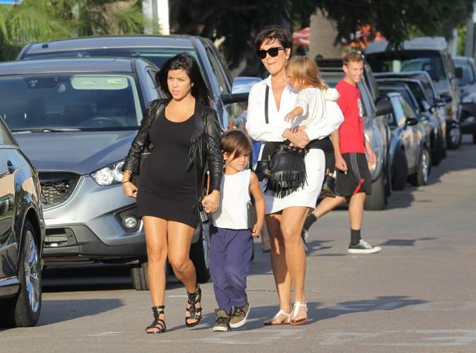 Kourtney Kardashian en famille à La Jolla le 22 août 2014