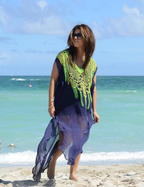 Kourtney Kardashian sur la plage à Miami, le 3 octobre 2012.