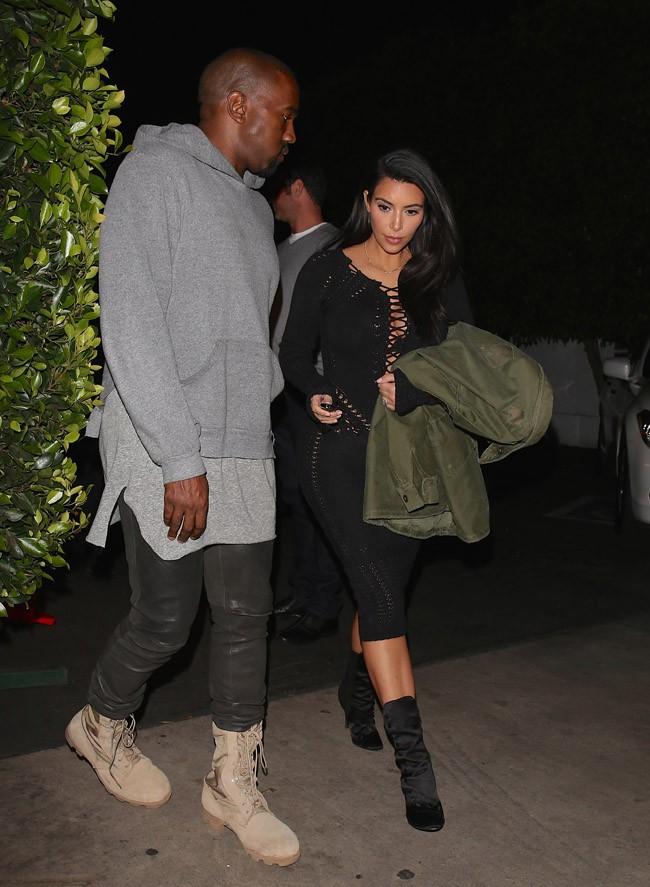 Kim Kardashian et Kanye West à Los Angeles le 15 janvier 2015