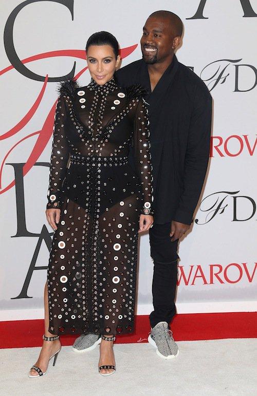 En juin 2015 avec Kanye West au gala du CFDA