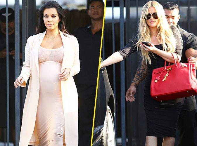 Kim et Khloe Kardashian le 4 septembre 2015