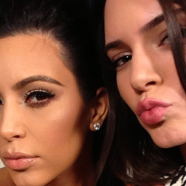 Kim et sa demi-soeur Kendall
