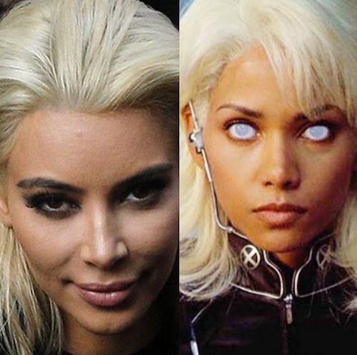 Photos : Kim Kardashian : à peine décolorée, déjà parodiée !