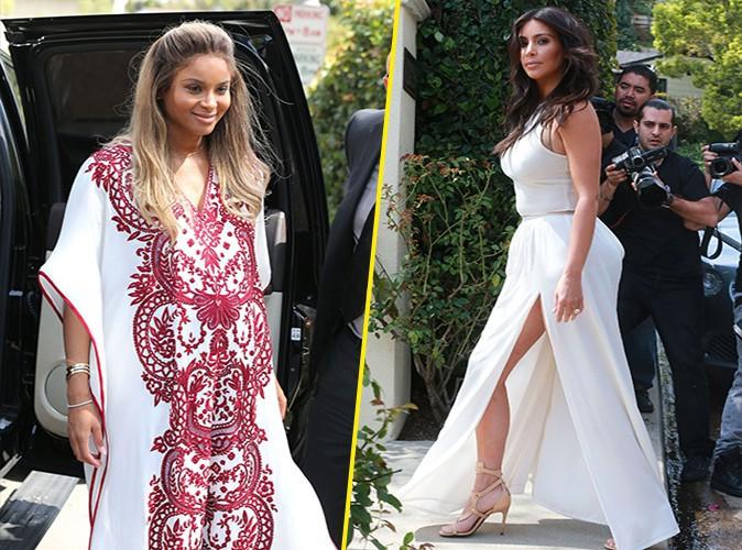 Ciara et Kim Kardashian à Los Angeles le 22 mars 2014