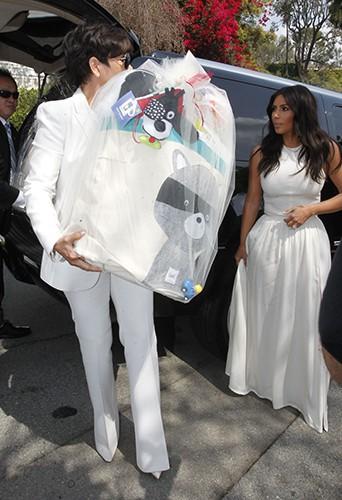 Kris Jenner et Kim Kardashian à Los Angeles le 22 mars 2014