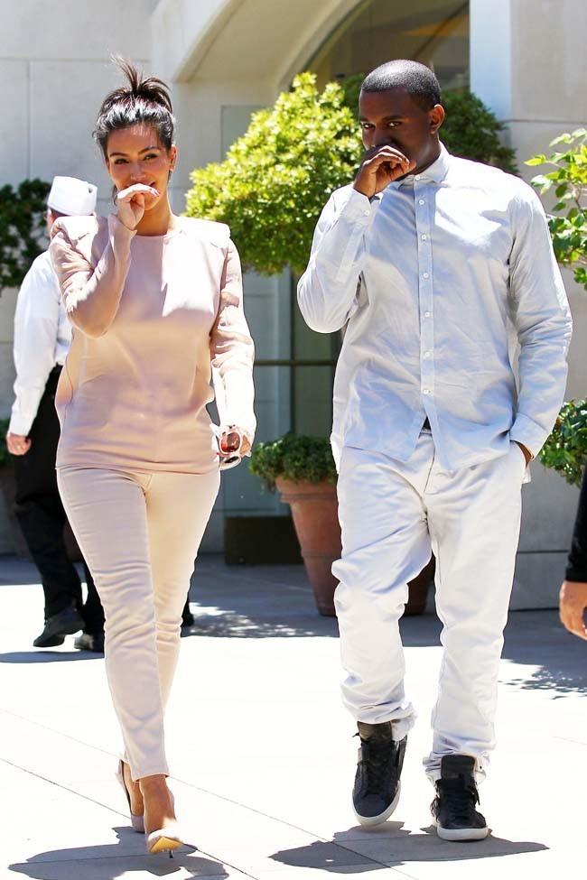 Kim Kardashian et Kanye West le 30 juin 2012 à Calabasas