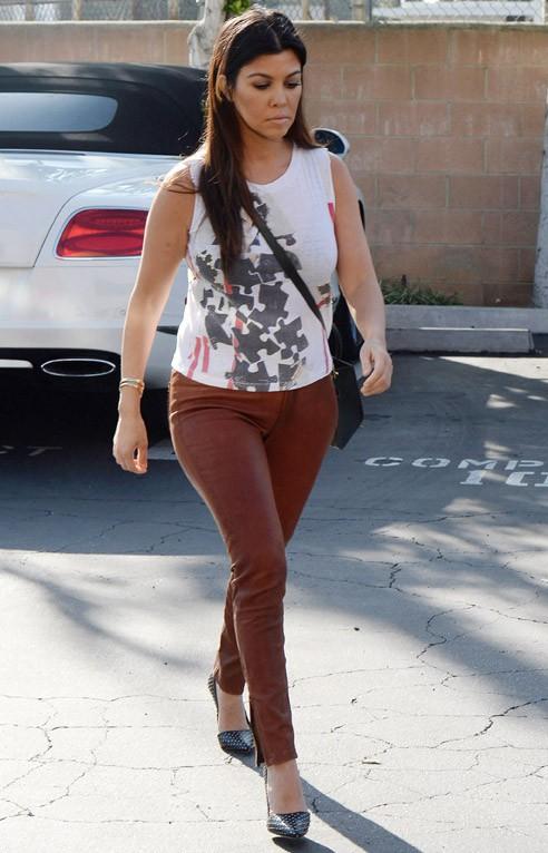 Kourtney Kardashian à Los Angeles le 4 mars 2014