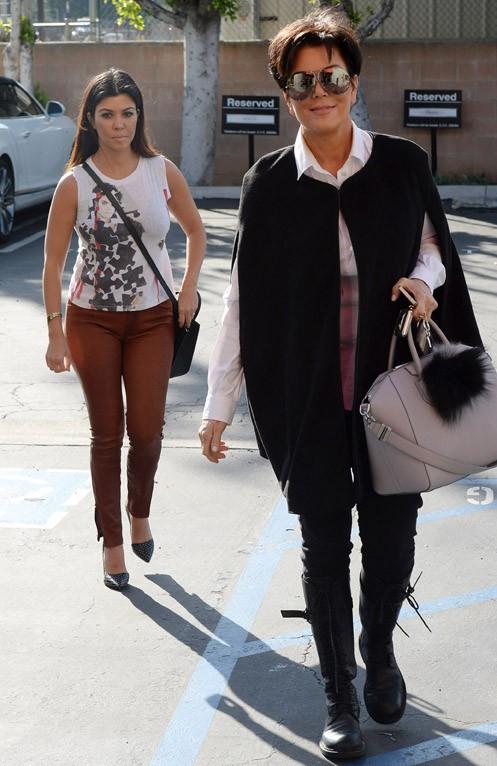 Kourtney Kardashian et Kris Jenner à Los Angeles le 4 mars 2014
