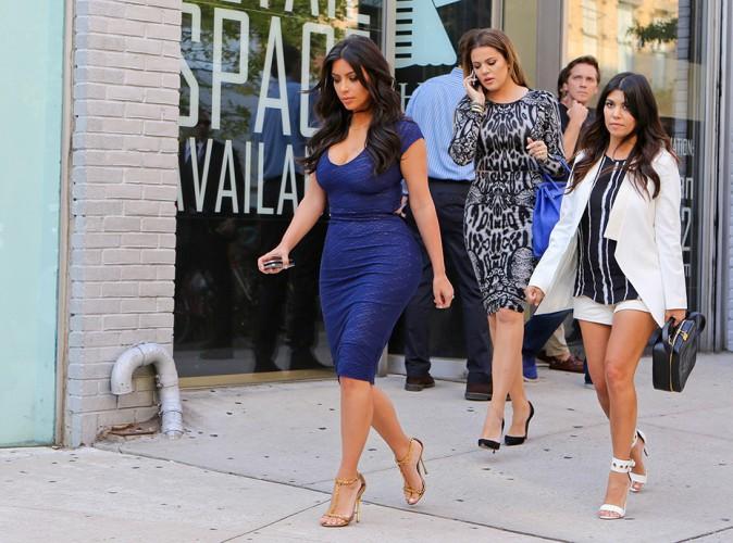 Khloé, Kourtney et Khloé Kardashian à New York le 7 juillet 2014