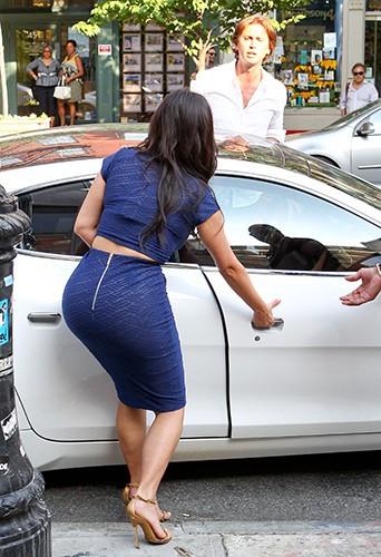 Kim Kardashian et Jonathan Cheban à New York le 7 juillet 2014