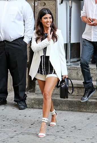 Kourtney Kardashian à New York le 7 juillet 2014