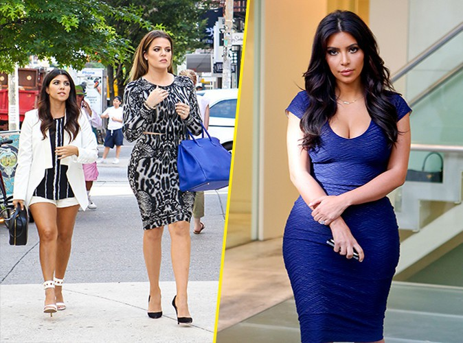 Kourtney, Khloé et Kim Kardashian à New York le 7 juillet 2014