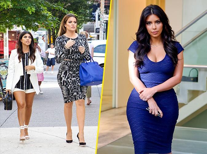 Kourtney, Khloé et Kim Kardashian à New York le 7 juillet 2014