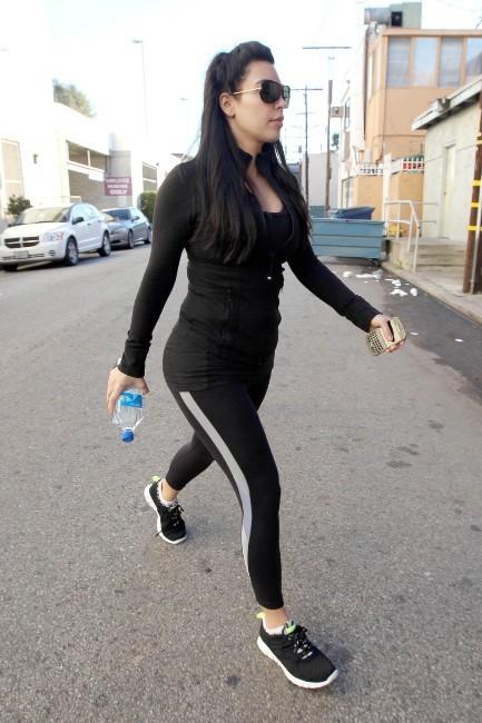 Kim Kardashian, Los Angeles, 2 janvier 2012.