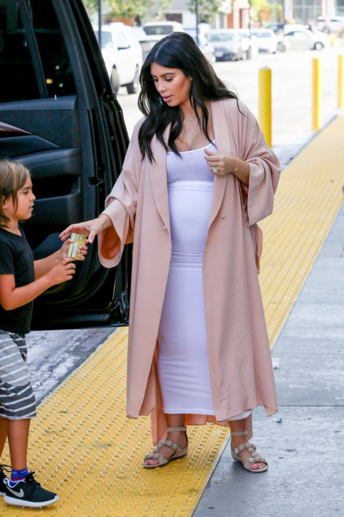 Kim Kardashian le 22 août 2015
