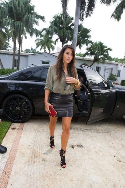 Kim Kardashian à Miami, le 8 octobre 2012.