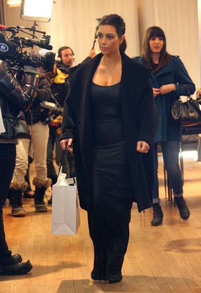 Kim Kardashian à New York, le 17 février 2014.