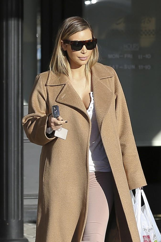Kim Kardashian à Calabasas, le 5 janvier 2014.