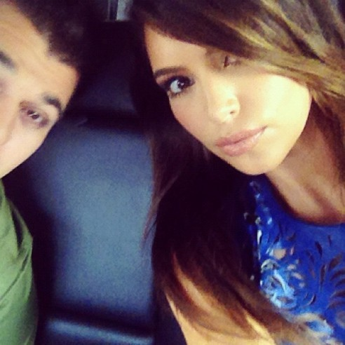 Kim Kardashian et son frère Rob Kardashian...