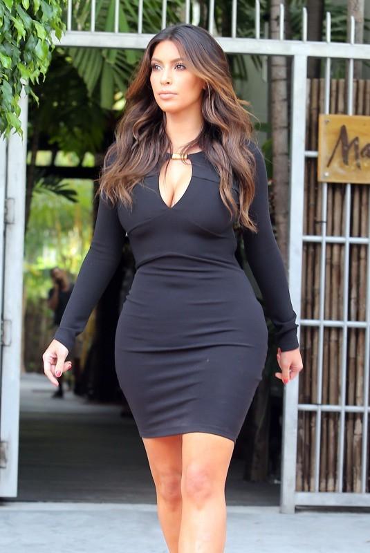 Kim Kardashian à Miami, le 10 octobre 2012.