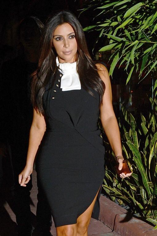 Kim Kardashian avec Scott Disick à Miami le 13 décembre 2012