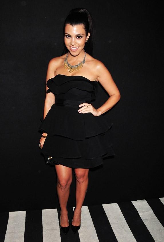 Kourtney Kardashian lors de la seconde soirée de mariage de Kim Kardashian et Kris Humphries à New York, le 31 août 2011.