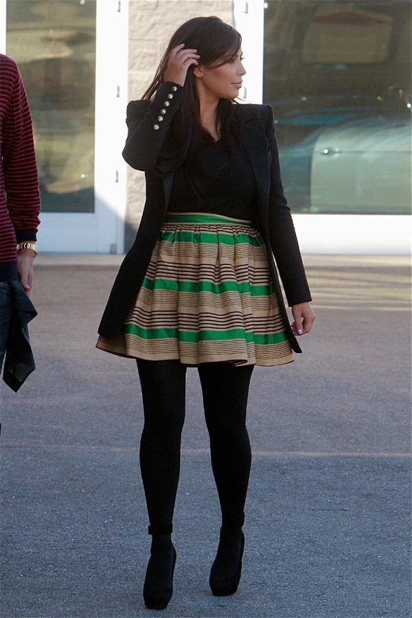 Kim Kardashian en tournage à Calabasas le 26 février 2013