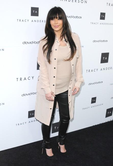 Kim Kardashian lors de l'inauguration du studio flagship de Tracy Anderson à Brentwood, le 4 avril 2013.