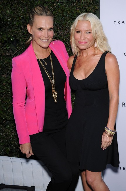 Molly Sims et Tracy Anderson à Brentwood, le 4 avril 2013.