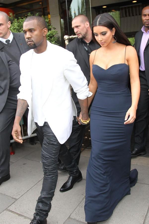 Avec Kanye West le lendemain (17 mai)