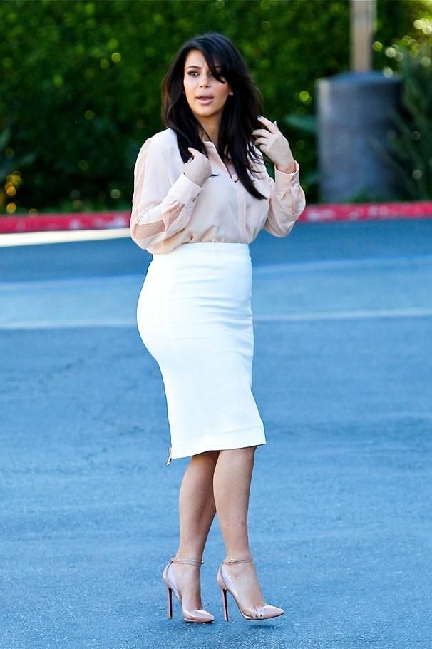 Kim Kardashian en tournage à Woodland Hills le 12 mars 2013