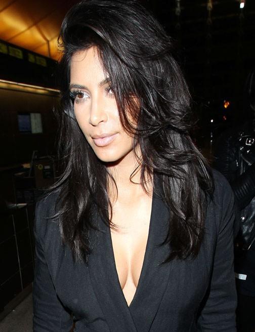 Kim Kardashian à l'aéroport de Los Angeles le 14 novembre 2014