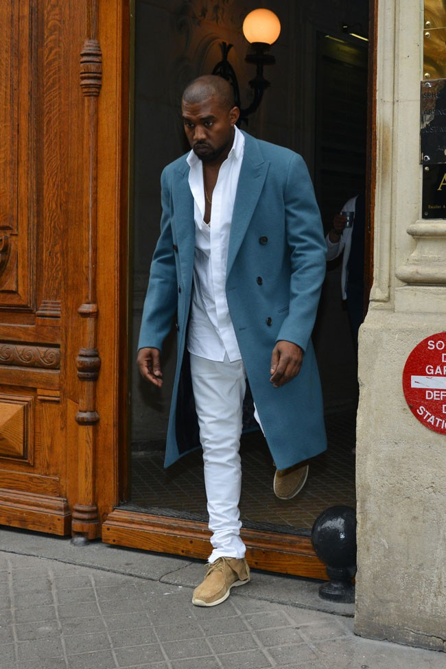 Kanye West à Paris le 30 septembre 2013