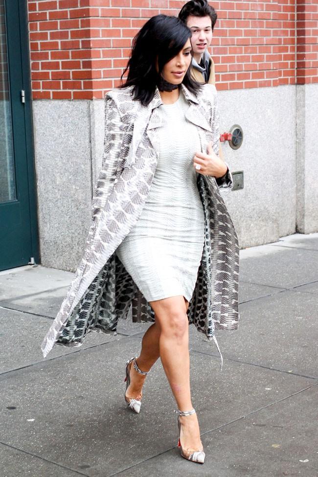 Kim Kardashian à New-York le 10 février 2015