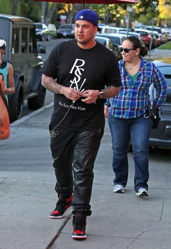 Rob Kardashian à Sherman Oaks, le 27 février 2013.