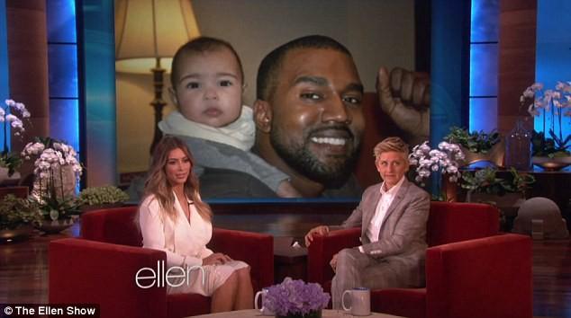 Kim Kardashian sur le plateau du Ellen DeGeneres Show, le jeudi 16 janvier 2014.