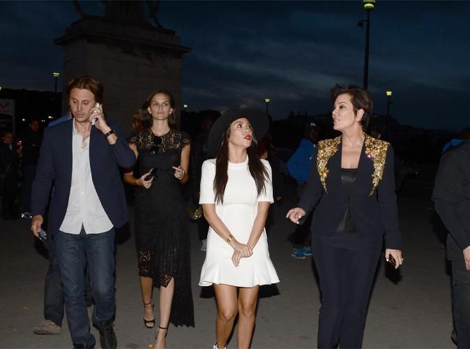 Jonathan Cheban, Kourtney Kardashian et Kris Jenner à Paris le 22 mai 2014