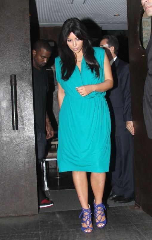 Kim Kardashian et Kanye West, Rio, 8 février 2013.