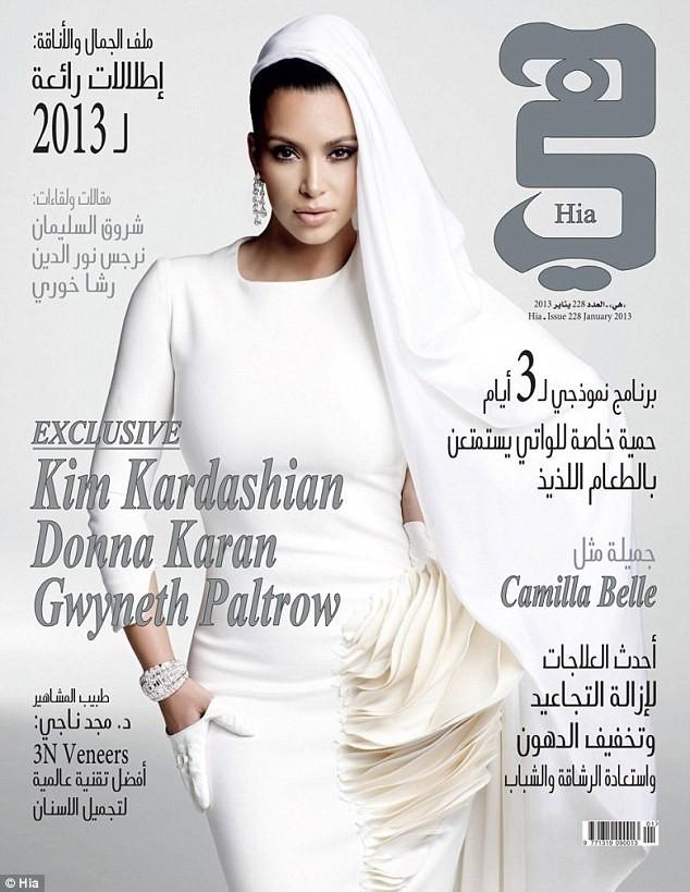 Kim Kardashian en couverture de Hia Magazine.