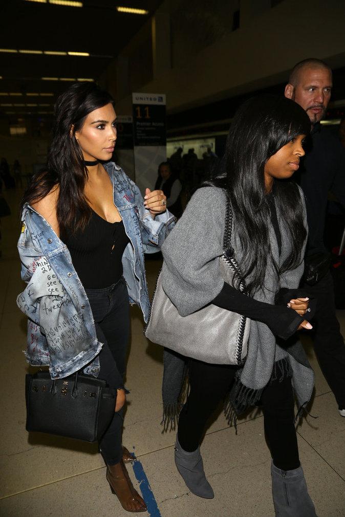 Kim Kardashian à Los Angeles ce lundi 11 avril 2016