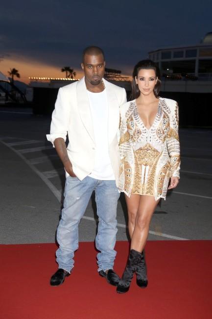Kim Kardashian et Kanye West lors de la première de Cruel Summer à Cannes, le 23 mai 2012.