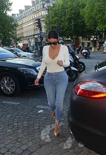 Kim Kardashian à Paris le 18 mai 2014