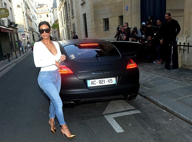 Kim Kardashian et Kanye West à Paris le 18 mai 2014