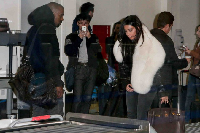 Kim Kardashian et Kanye West : aucun traitement de faveur à l'aéroport !