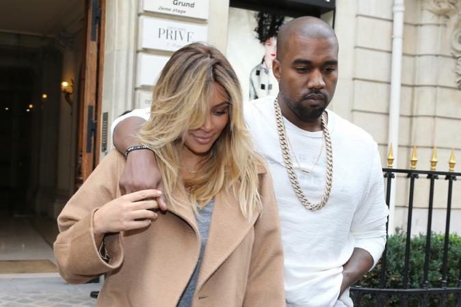 Kim Kardashian et Kanye West à Paris le 28 septembre 2013