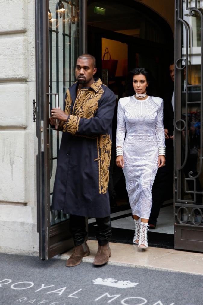 Kim Kardashian et Kanye West : direction le front row du d�fil� Balmain !